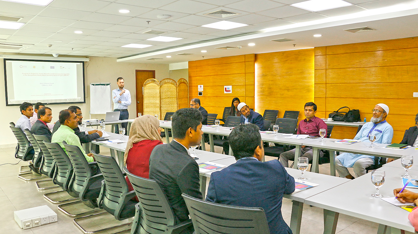 Group discussion on improving environmental and safety condition of the RMG Sector
